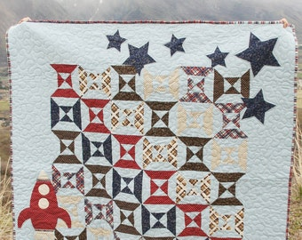 PDF Quilt Pattern Rocket Boy