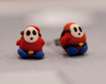 Shy Guy Earrings Mario