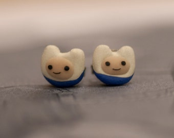 Adventure Time Finn The Human Earrings