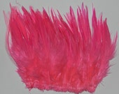 1/4 oz. Strung Hot Pink Saddle Hackle Feathers (5 to 7 inches in length) - crafts, earings & extensions