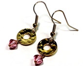 Hammered Earrings Pink