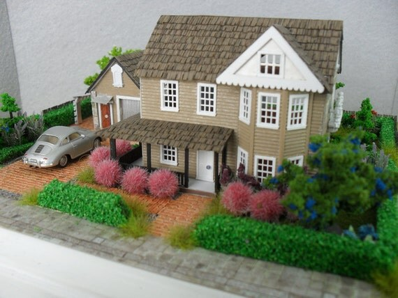 Stone Victorian Mansion Property 1:144 Scale