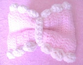 FREE DELIVERY Pink Bow with Piped Frosting Edging