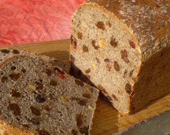 Buckwheat Fruit Bread (gluten free & dairy free)