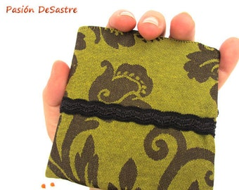 Brocade bifold wallet waterproof unisex men women damask
