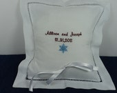 Embroidered Ring Bearer Pillow