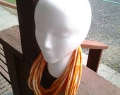Orange Recyled T-Shirt Cowl