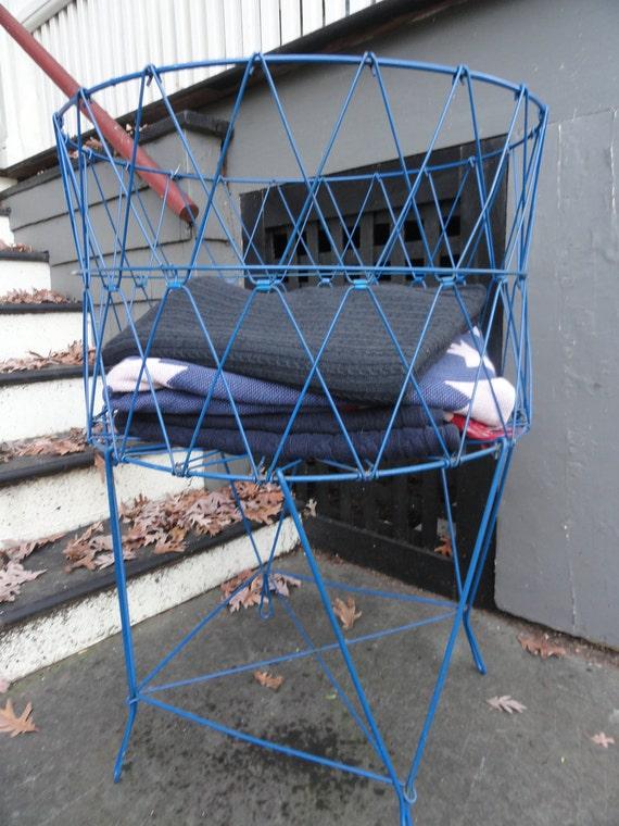 Vintage Wire Laundry Basket /Planter