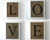 6 alphabet wall letters for the price of 5 burlap decor
