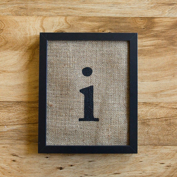 Lowercase Letters Wall Decor : Items similar to sale letter i burlap wall decor