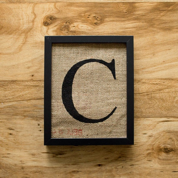 letter c wall decor letter c burlap wall decor alphabet monogram by laxtoyvr 22784 | il 570xN.326044441