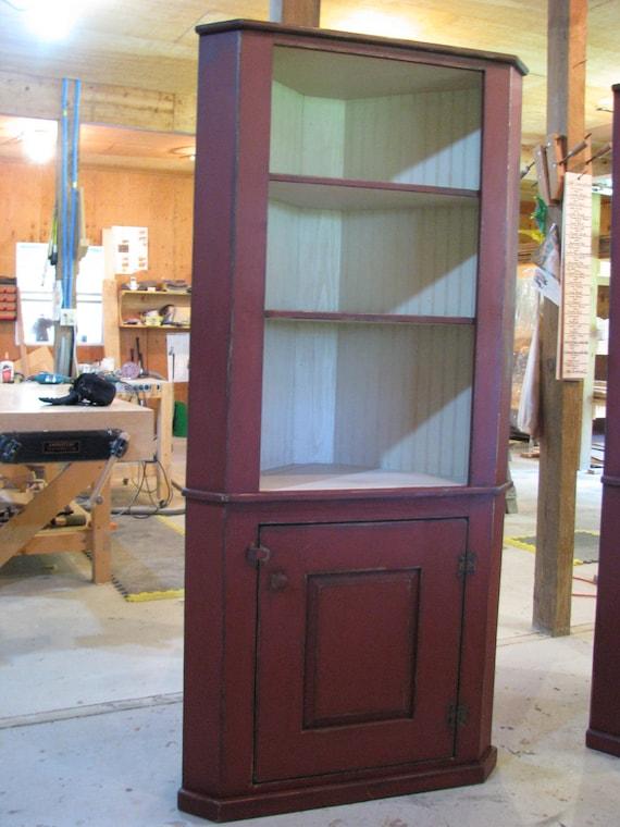 Honeyville Corner Cupboard - Primitive Finish