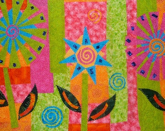 """Art Quilt - """"Summer Fun"""" - 1"""