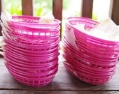 Almost sold out 12 Rare Pink Hamburger Burger Baskets with Yellow Liners - Perfect for Girls Birthday BBQ Party & Shower