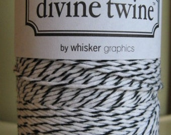 Divine Twine Black Licorice  Bakers Twine 1 Full Spool  240 Yards Made in USA