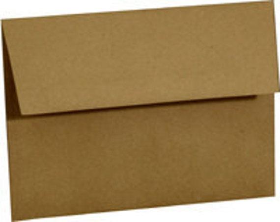 Brown Bag  Envelopes  A2  4-3/8 x 5-3/4 Pack of 25 Notecard Envelopes Invitation Envelopes
