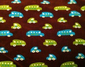 Automobile printed velour knit brown, 0,5 m