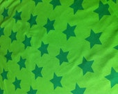"Bio-Jersey ""Stars"" grün/grün 0,5 Meter"