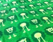 "Organic cotton  interlock-jersey  ""Lejon"" green 0,5 Metre"