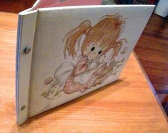 Very Cute Little Girl's 1975 Hallmark Photo Album