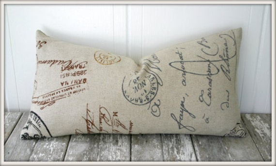 La Poste Lumbar Pillow Cover / 12x20