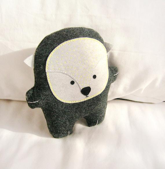 Bambak, stuffed adorable hedgehog, woodland animal, geek toy, best friend, soft toy, cute creature, kawaii plushie, personalized kids