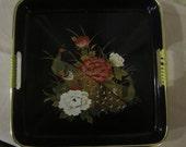 Black Laquerware  Serving Tray