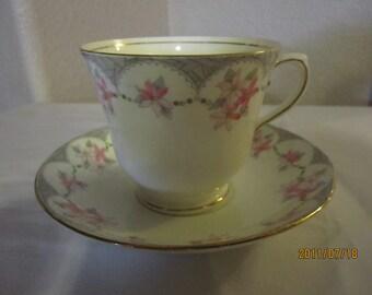 Royal York bone china teacup and saucer
