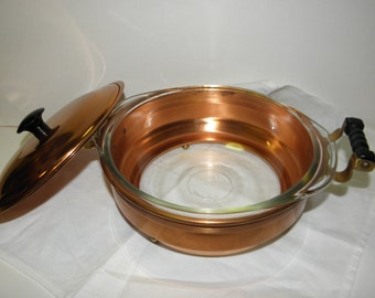 Vintage Copper Casserole Set