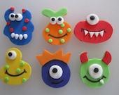 Monster Assortment Cupcake Toppers - 1 Dozen