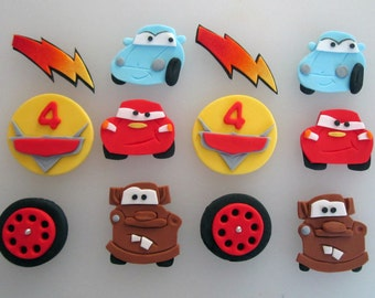 Race Car themed Cupcake/Cookie Toppers - 1 dozen