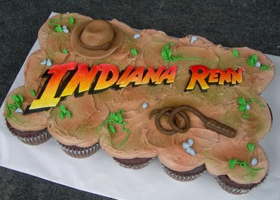 Adventure Jones Cake or Cupcake Cake Toppers