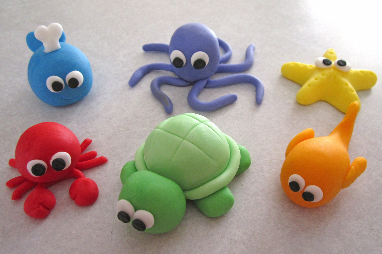Ocean Cupcake Toppers Sealife Friends Cupcake Picks 24Pack