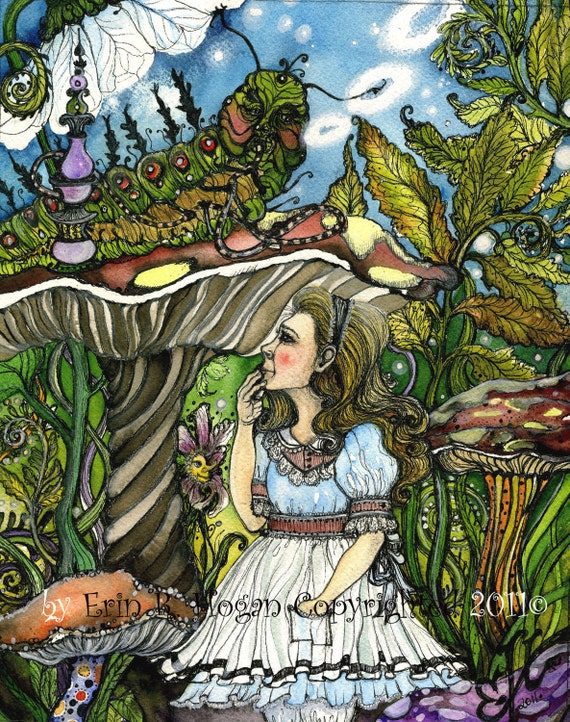 Fairy Tale, Art, Reproduction, Alice, Wonderland, 8x10 Print