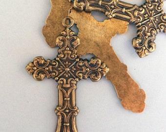 Brass ox Cross (x2)