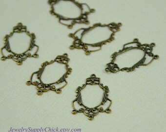 Brass Ox Chandelier Filigree (x4)