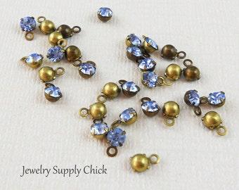 Lt. Sapphire crystal 4mm drop (x12+)