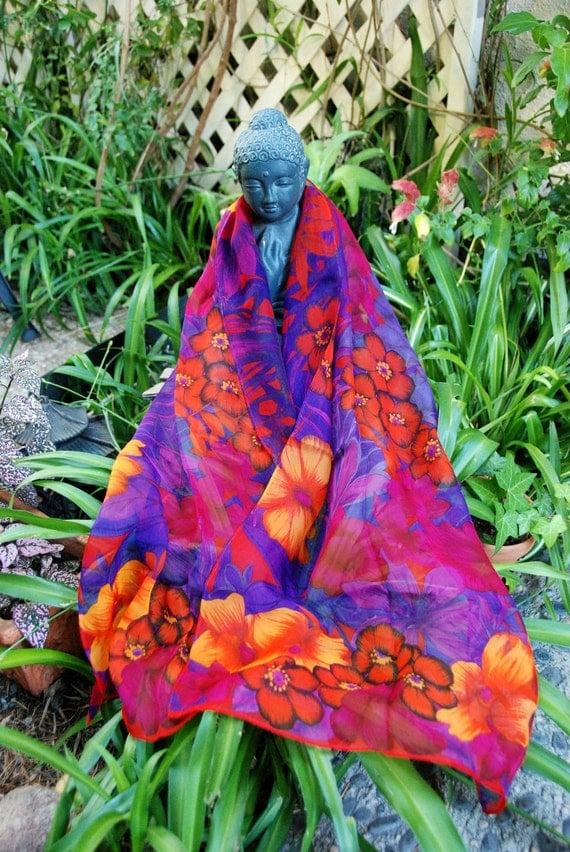Vintage Chiffon scarf