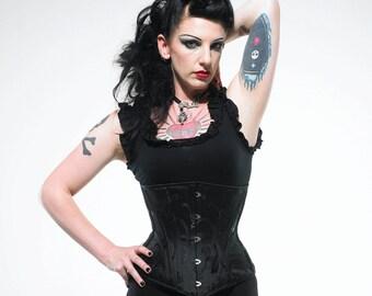 Lilith Black Under Bust Corset Custom