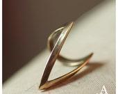 Brass V ring