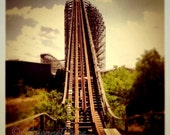 Abandoned Six Flags Roller Coaster - 4x4 matted to 8x8 photographic print
