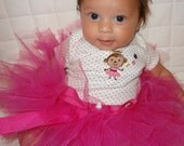 Pretty in Hot Pink Tutu - Custom Made - FREE Flower Clip and Headband with Purchase
