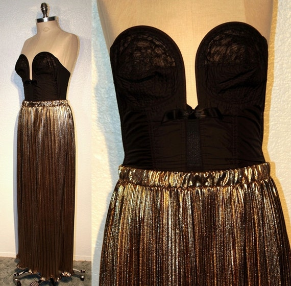 Gold pleated maxi skirt – Modern skirts blog for you