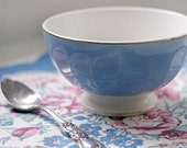 Vintage French Blue Cafe au Lait Bowl