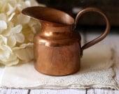 Vintage Copper Petite Creamer / Pitcher