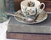 Vintage English Teacup Landscape design - Dreamtown Pattern by Johnson Brothers - circa 1950s
