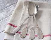 Antique French Silver plate Serving Spoon - by Ravinet d'enfert - Set of 4 - RARE circa 1890