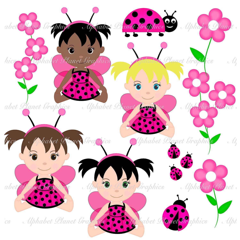 pink ladybug lady bug baby girl african by sugarpiestudio2
