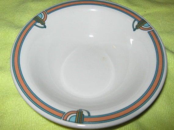 Rego Restaurant China Art Deco Pattern Cereal Bowl