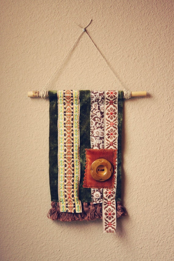 amadi.  a tattered textile bohemian gypsy flag.